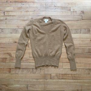 Neiman Marcus, Size S, Tan cashmere sweater